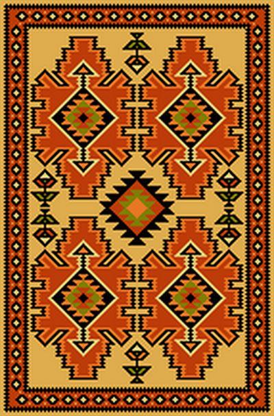 دانلود رایگان فایل نقشه ی تابلو فرش دستباف طرح گلیم سنتی هریس