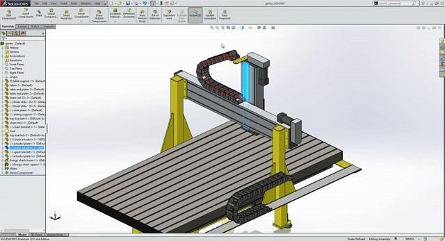 طراحی و مونتاژ زنجیر در نرم افزار سالیدورکس