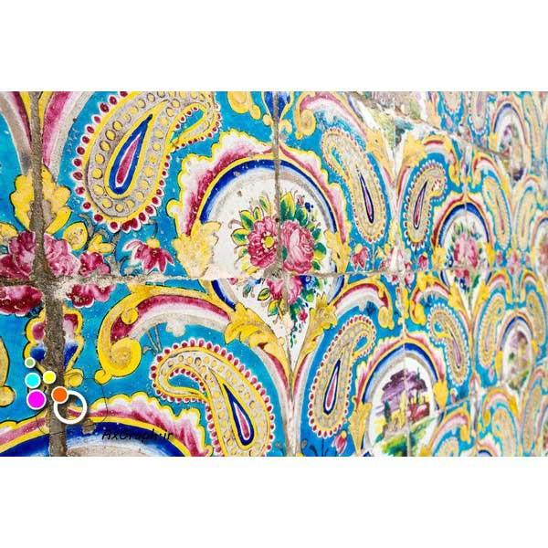 دانلود تصویر با کیفیت نمایی از کاشیکاری کاخ گلستان-کد 2156