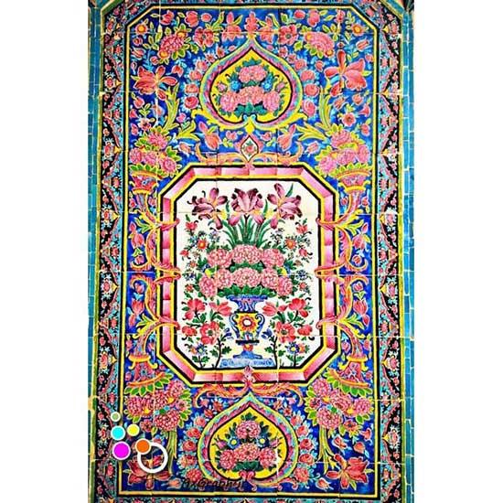 دانلود تصویر با کیفیت نمایی از کاشی کاری مسجد نصیر الملک-کد 2188