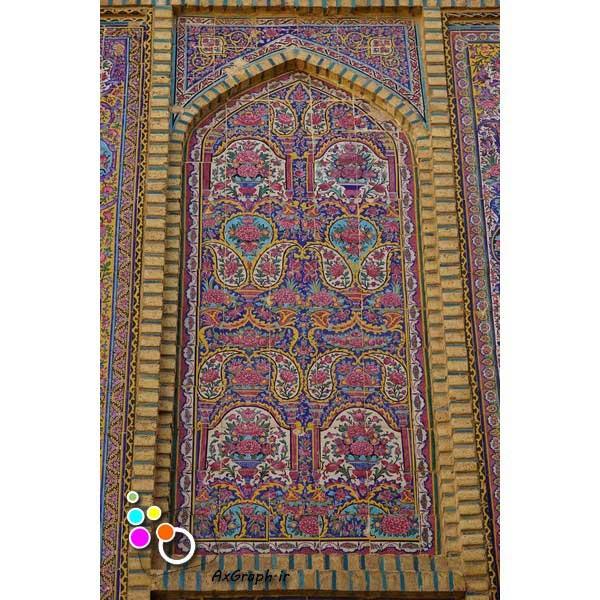 دانلود تصویر با کیفیت نمایی از کاشی کاری مسجد وکیل-کد 2190