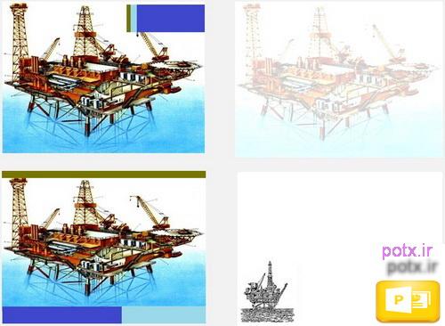 قالب سکوی نفت