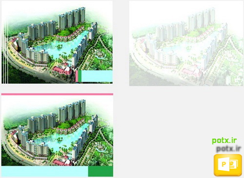 قالب محوطه سازی هتل