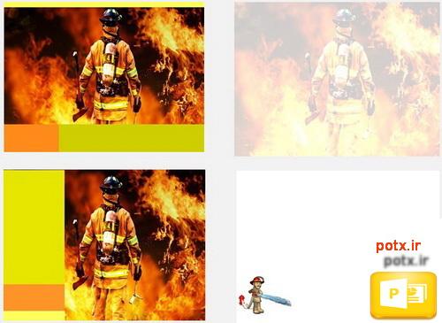 قالب آتش نشانی