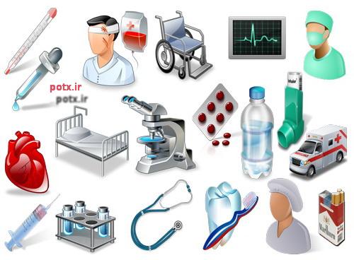 تعداد 199 آیکن  حوزه بهداشت