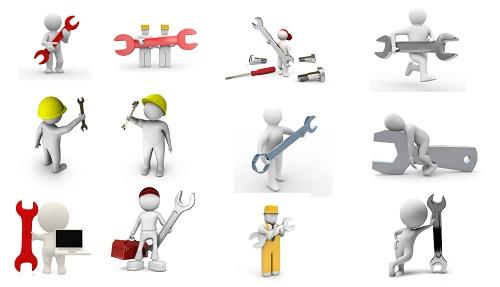 20 عدد آدمک سه بعدی مربوط به تعمیرات